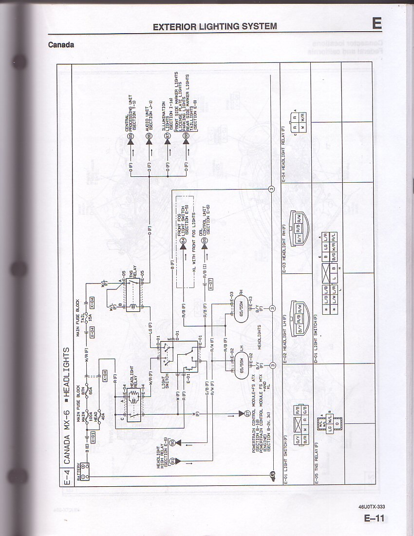 Mazda 3 Headlight Wiring Schematic Diagrams 2000 Protege Fuse Box Diagram 2004 6 37 2007 Radio Mazda3 Transmission